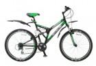 Велосипед 26' двухподвес STELS CROSSWIND черный/салатовый 21 ск.