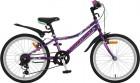 Велосипед 20' хардтейл, рама женская NOVATRACK ALICE V-brake, фиолет., 6 ск. 20 SH 6V.ALICE.VL 21