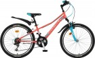 Велосипед 24' рама женская NOVATRACK VALIANT V-brake, корал.,18 ск.,10' 24SH 18V.VALIANT.10CRL9 (20)
