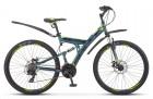 Велосипед 27,5' двухподвес STELS FOCUS MD 21-sp. диск, серый/жёлтый, 21 ск., 19' (2020)V010 LU083839