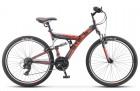 Велосипед 26' двухподвес STELS FOCUS V черный/красный 18 ск., 18'