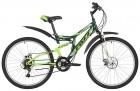 Велосипед 26' двухподвес FOXX FREELANDER диск, зеленый, 18' 26 SFD. FREELAND.18 GN 9
