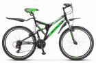 Велосипед 26' двухподвес STELS Challenger V чёрный/зелёный, 21 ск., 20' (2020) Z010 LU083396