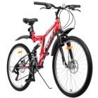 Велосипед 26' двухподвес FOXX FREELANDER красный, 18' 26SFD.FREELD.18RD0