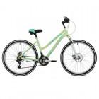 Велосипед STINGER 26', рама женская, LATINA D диск, зеленый, 17' 26 SHD.LATINAD.17 GN8