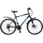 Велосипед 26' хардтейл, рама алюминий FOXX ATLANTIC D диск, черн./синий, 18ск. 26AHD.ATLAND.20BK8 (