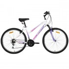 Велосипед 26' хардтейл, рама женская MIKADO Blitz Evo Lady белый-фиол., 18ск. 26SHV.BLITZEVOL.16WT8