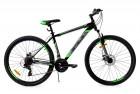 Велосипед 27,5' хардтейл STELS NAVIGATOR-700 MD диск, чёрный/зелёный, 21 ск., 21' (2019) F010