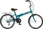 Велосипед 20' складной NOVATRACK TG темно-бирюзовый, тормоз V-brake, 6 ск. 20 NFTG 306 SV.BL 20