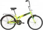 Велосипед 24' складной NOVATRACK TG тормоз V-brake, зеленый 24 NFTG 1.GN 20