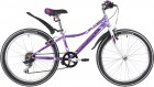 Велосипед 24' рама женская NOVATRACK ALICE тормоз V-brake, лиловый, 6 ск., 12' 24SH6SV.ALICE.12LC20
