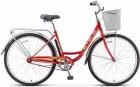 Велосипед 28' городской, рама женская, STELS NAVIGATOR-300 LADY красный, 1 ск., 20' + корзина