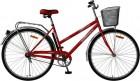 Велосипед FOXX 28' городской, рама женская, FIESTA красный+передняя корзина 282 SHL.FIESTA.RD8