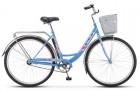 Велосипед 28' городской, рама женская STELS NAVIGATOR-345 LADY голубой-хром, 1 ск., 20'