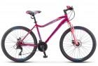 Велосипед 26' рама женская STELS MISS-5000 MD диск, розово-фиолетовый, 21 ск., 18' LU094877