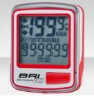 Велокомпьютер BRI-10 бело-красный, 10 функций