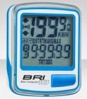 Велокомпьютер BRI-10 бело-синий, 10 функций