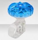 Звонок 26 S-02 алюминий/пластик, прозрачно-синий