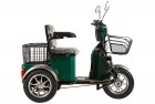 Электроскутер 3-х колесный (трицикл) RUTRIKE S1 V2 с большой корзиной Зеленый-0876