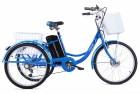 Электровелосипед 3-х колесный (грузовой) CROLAN 350W blue-1878