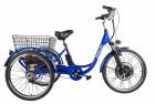 Электровелосипед 3-х колесный (грузовой) CROLAN 500W blue-1925
