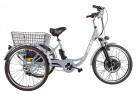 Электровелосипед 3-х колесный (грузовой) CROLAN 500W silver-1927